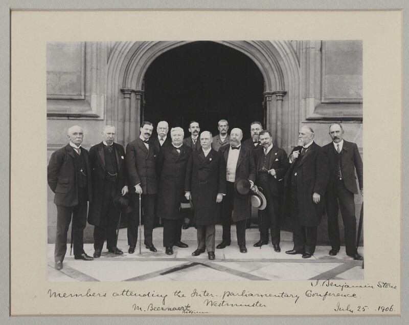 'Members attending the Inter-Parliamentary Conference', by Benjamin Stone, 25 July 1906 - NPG x135542 - © National Portrait Gallery, London