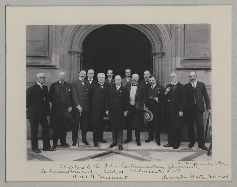 'Visitors to the Inter-Parliamentary Conference held at Westminster Hall', by Benjamin Stone, 25 July 1906 - NPG x135543 - © National Portrait Gallery, London