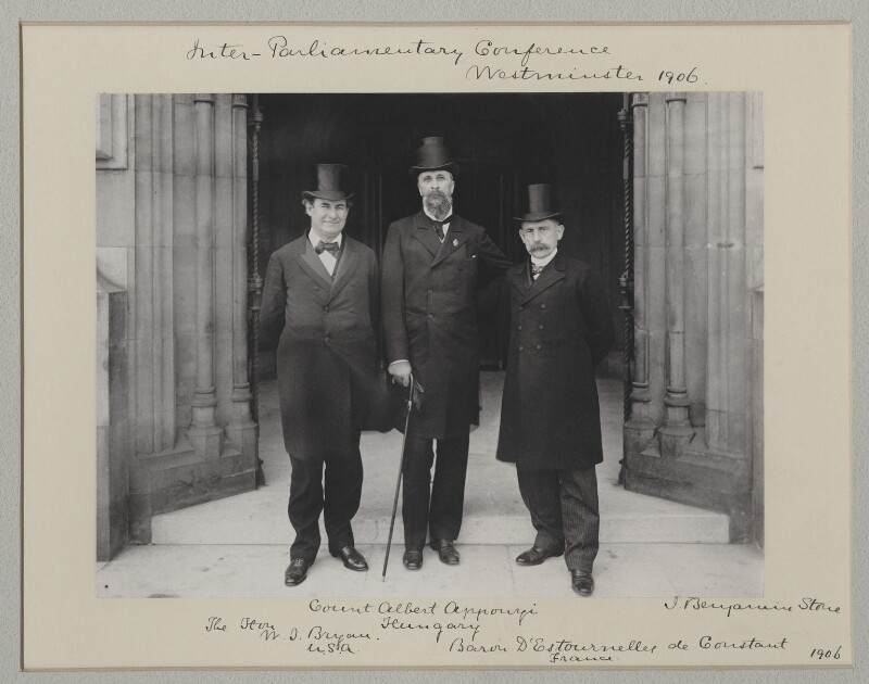 'Inter-Parliamentary Conference, Westminster, 1906', by Sir (John) Benjamin Stone, 25 July 1906 - NPG x135544 - © National Portrait Gallery, London