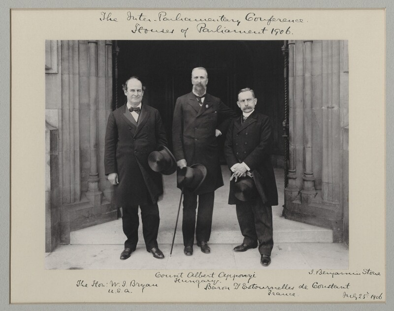 'The Inter-Parliamentary Conference, Houses of Parliament, 1906', by Benjamin Stone, 25 July 1906 - NPG x135545 - © National Portrait Gallery, London
