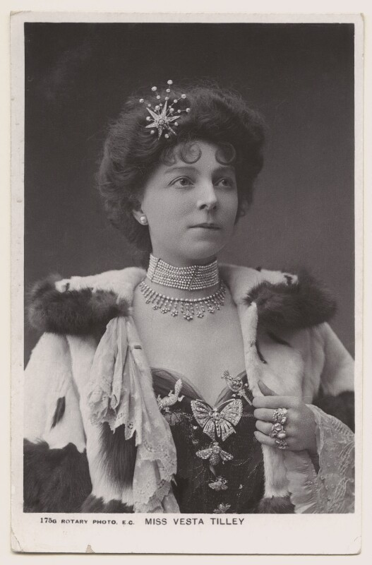 Vesta Tilley, published by Rotary Photographic Co Ltd, late 1900s - NPG x160604 - © National Portrait Gallery, London
