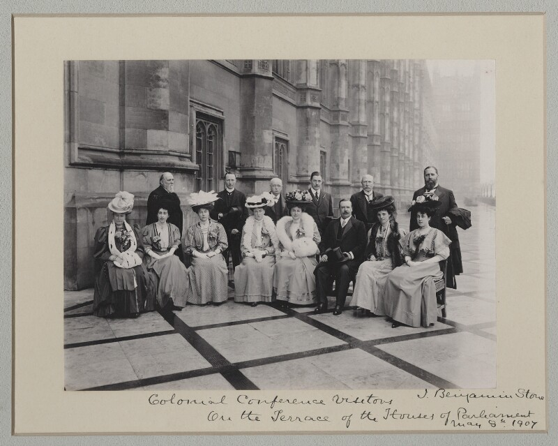 'Colonial Conference Visitors on the Terrace of the Houses of Parliament', by Benjamin Stone, 8 May 1907 - NPG x135548 - © National Portrait Gallery, London