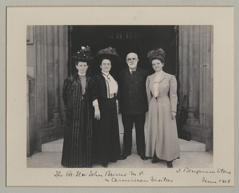 John Elliott Burns with American visitors to the House of Commons, by Benjamin Stone, June 1908 - NPG x135551 - © National Portrait Gallery, London