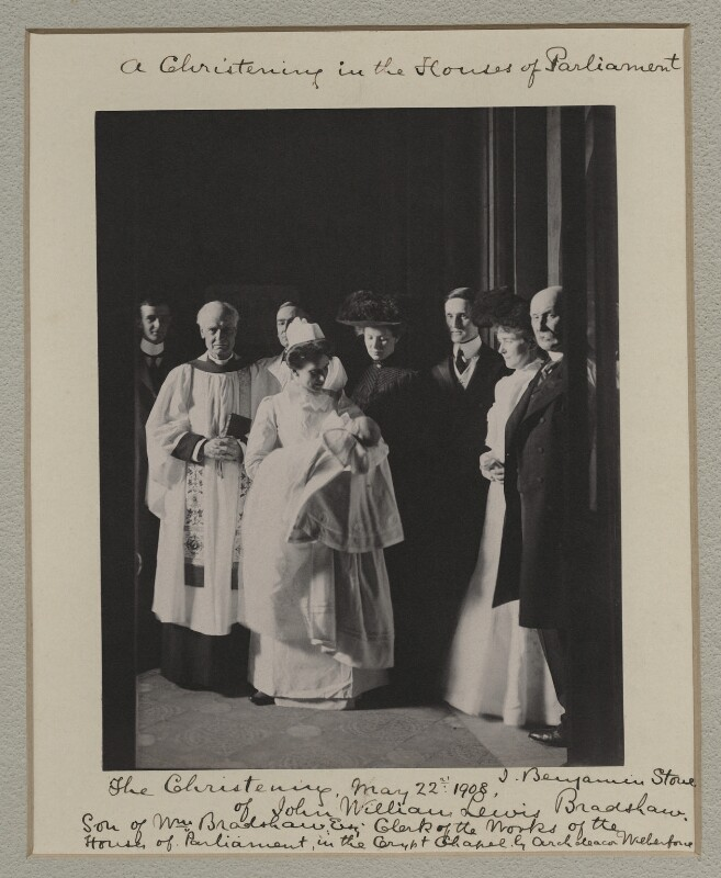 'A Christening in the Houses of Parliament', by Benjamin Stone, 22 May 1908 - NPG x135554 - © National Portrait Gallery, London