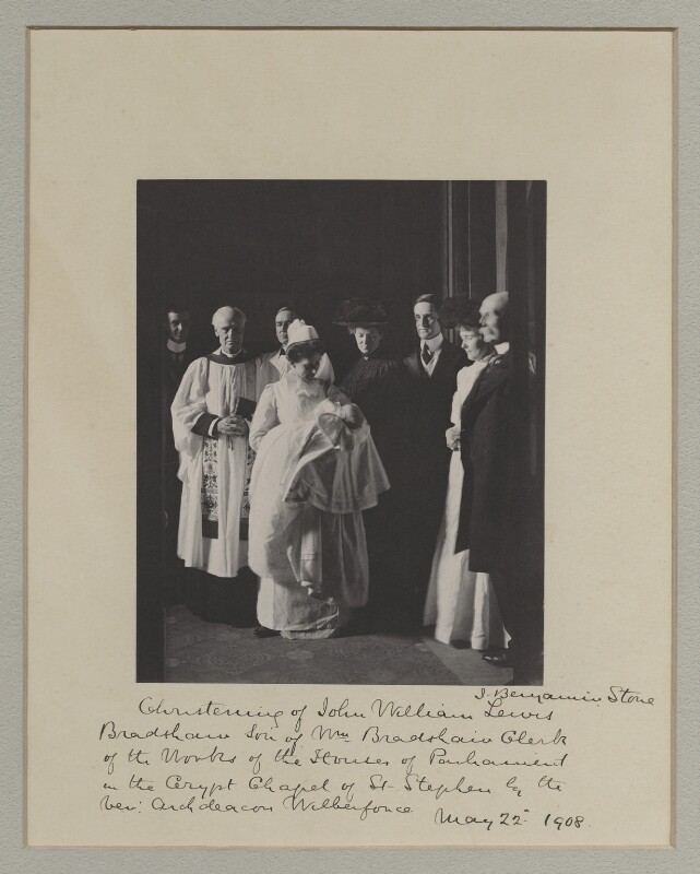 'A Christening in the Houses of Parliament', by Benjamin Stone, 22 May 1908 - NPG x135555 - © National Portrait Gallery, London