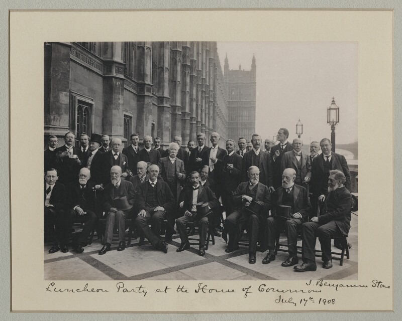 'Luncheon Party at the House of Commons', by Sir (John) Benjamin Stone, 17 July 1908 - NPG x135569 - © National Portrait Gallery, London
