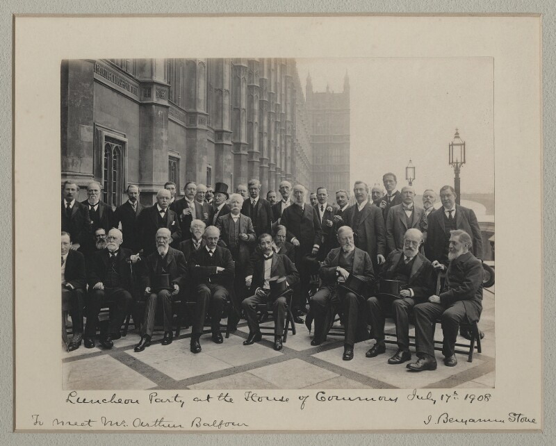 'Luncheon Party at the House of Commons', probably by Roland Parker Stone, for  Sir (John) Benjamin Stone, 17 July 1908 - NPG x135567 - © National Portrait Gallery, London