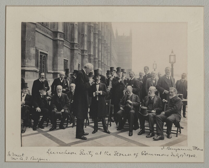 'Luncheon Party at the House of Commons', probably by Roland Parker Stone, for  Sir (John) Benjamin Stone, 17 July 1908 - NPG x135568 - © National Portrait Gallery, London