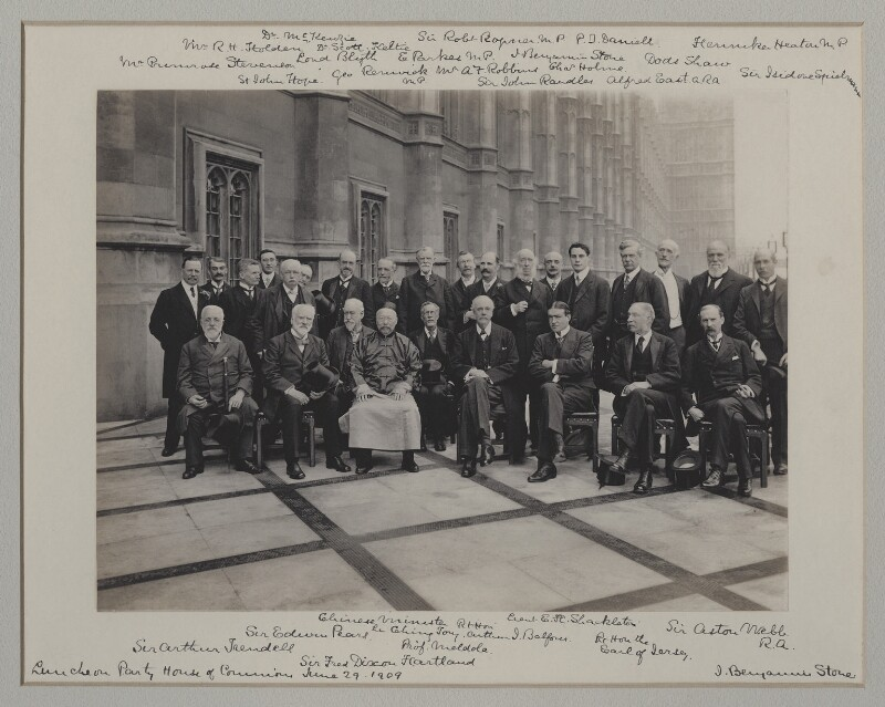 'Luncheon Party at the House of Commons', by Roland Parker Stone, for  Benjamin Stone, 29 June 1909 - NPG x135574 - © National Portrait Gallery, London