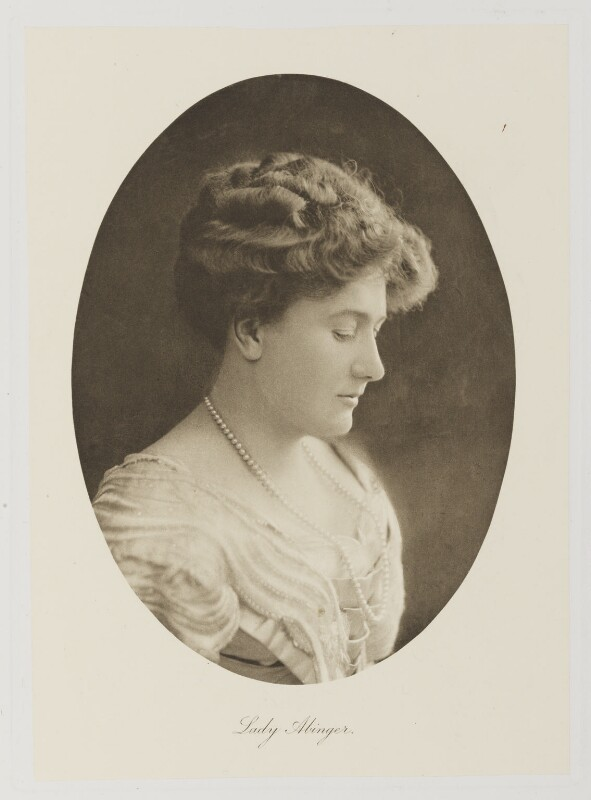 Lila Lucy Catherine Mary (née White), Lady Abinger, by Bassano Ltd, published 1909 - NPG Ax161331 - © National Portrait Gallery, London