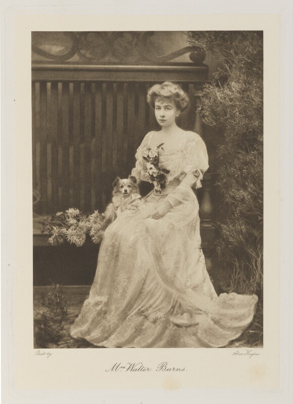 Ruth Evelyn Burns (née Cavendish-Bentinck), by Alice Hughes, mid 1900s - NPG Ax161337 - © National Portrait Gallery, London