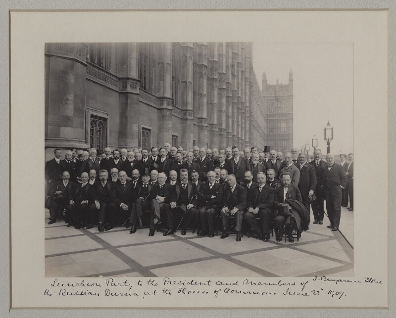 'Luncheon Party to the President and Members of the Russian Duma at the House of Commons', by Benjamin Stone, 22 June 1909 - NPG x135581 - © National Portrait Gallery, London
