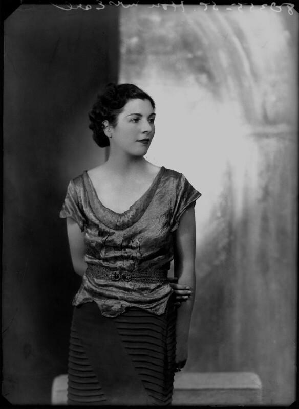Hon. Edith Honor Earl, by Bassano Ltd, 18 October 1935 - NPG x179516 - © National Portrait Gallery, London
