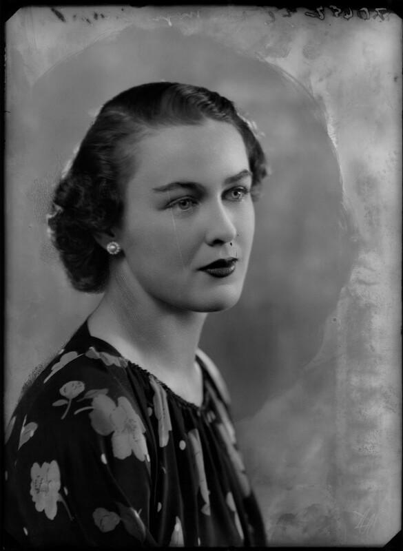 Catherine Moya Johannsen (née de la Poer Beresford), by Bassano Ltd, 19 November 1935 - NPG x179560 - © National Portrait Gallery, London