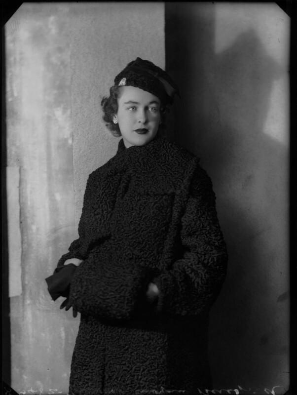 Catherine Moya Johannsen (née de la Poer Beresford), by Bassano Ltd, 19 November 1935 - NPG x179563 - © National Portrait Gallery, London