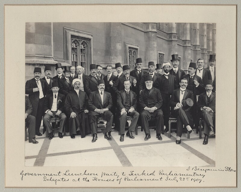 'Government Luncheon Party to Turkish Parliamentary Delegates at the Houses of Parliament', by Sir (John) Benjamin Stone, 22 July 1909 - NPG x135603 - © National Portrait Gallery, London