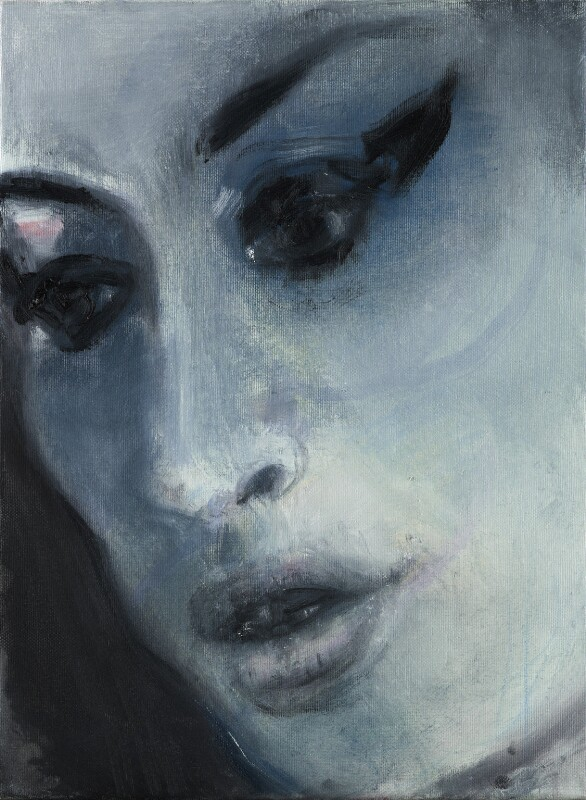 Amy Winehouse ('Amy-Blue'), by Marlene Dumas, 2011 - NPG 6948 - © Marlene Dumas; courtesy of the artist and Frith Street Gallery, London