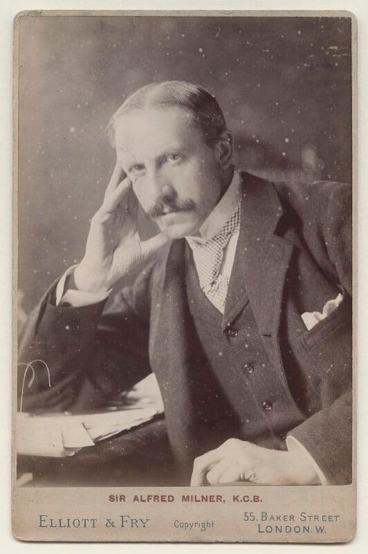 Alfred Milner, Viscount Milner, by Elliott & Fry, circa 1897 - NPG x135625 - © National Portrait Gallery, London