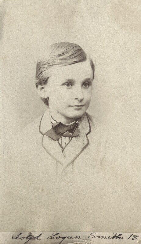 (Lloyd) Logan Pearsall Smith, by Unknown photographer, 1874 - NPG Ax160532 - © National Portrait Gallery, London