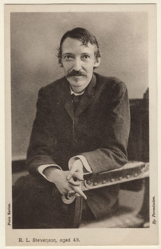 Robert Louis Stevenson, by H. Walter Barnett, 1893 - NPG x135632 - © National Portrait Gallery, London