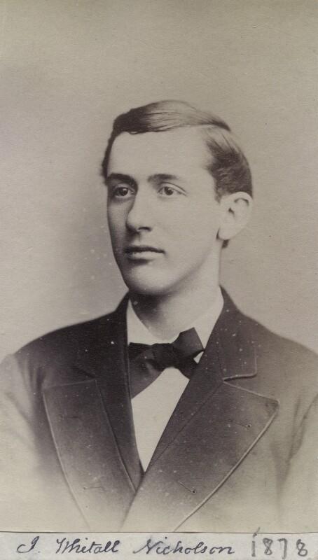 John Whitall Nicholson, by Unknown photographer, 1878 - NPG Ax160554 - © National Portrait Gallery, London