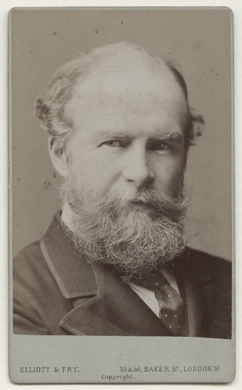 John Lubbock, 1st Baron Avebury, by Francis Henry Hart, for  Elliott & Fry, circa 1890 - NPG x135649 - © National Portrait Gallery, London