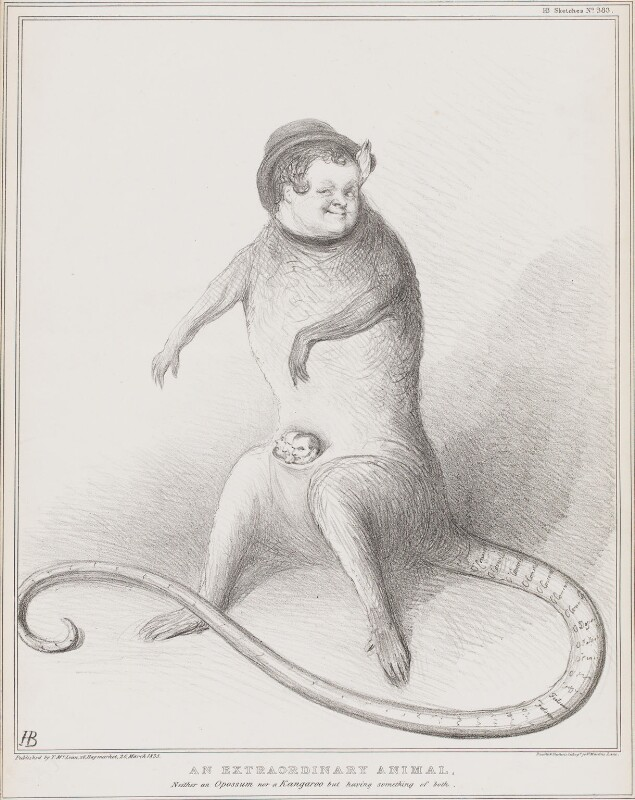 An Extraordinary Animal, by John ('HB') Doyle, printed by  Ducôte & Stephens, published by  Thomas McLean, published 26 March 1835 - NPG D41317 - © National Portrait Gallery, London
