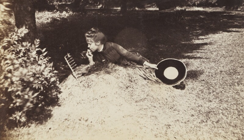 'Lotos Eating' (Evelyn Hunter Nordhoff), by Unknown photographer, 1885 - NPG Ax160583 - © National Portrait Gallery, London