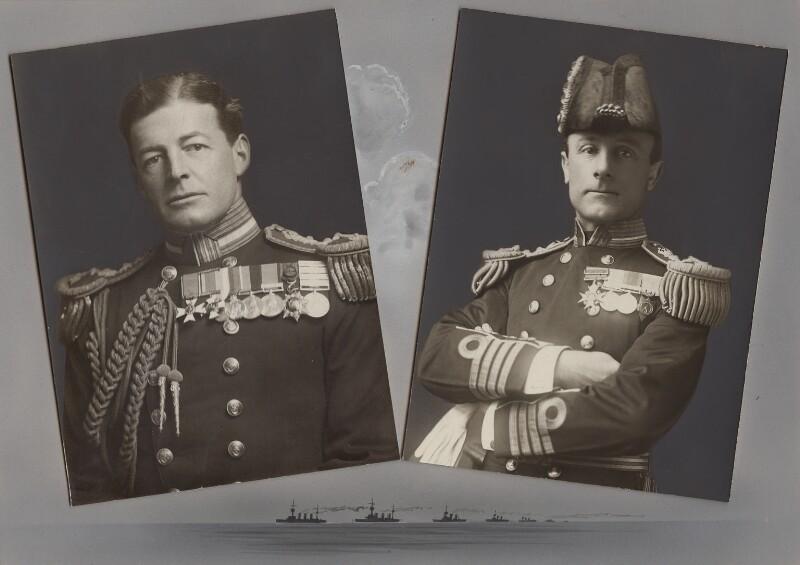 David Richard Beatty, 1st Earl Beatty; John Rushworth Jellicoe, 1st Earl Jellicoe, by Speaight Ltd, by  James Russell & Sons, published 1916 - NPG x135721 - © National Portrait Gallery, London