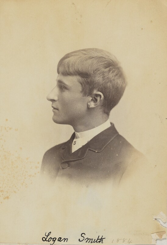 (Lloyd) Logan Pearsall Smith, by Unknown photographer, 1884 - NPG Ax160597 - © National Portrait Gallery, London