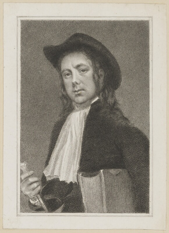 John Liston as Dominie Sampson, by Thomas Woolnoth, after  Thomas Charles Wageman, published 1820 - NPG D38646 - © National Portrait Gallery, London