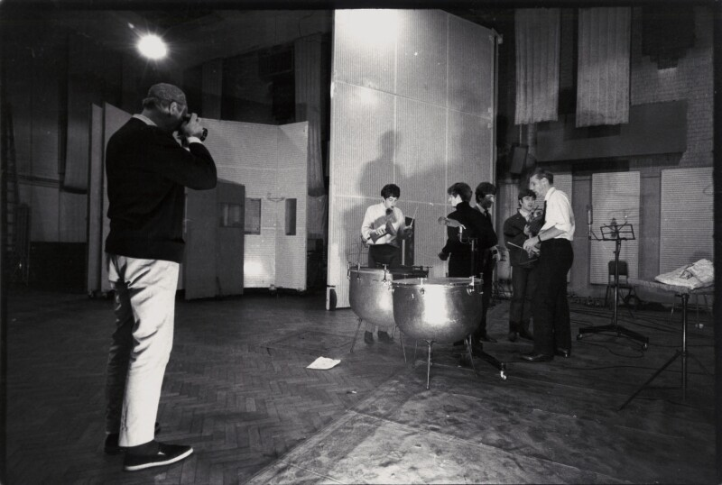 Norman Parkinson photographing The Beatles with George Martin, by David Searle, 12 September 1963 - NPG x135759 - © reserved; collection National Portrait Gallery, London