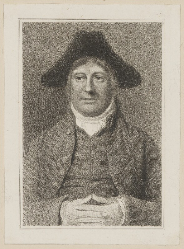 Charles Incledon as Steady in Dibdin's 'The Quaker', by Thomas Woolnoth, published by  Simpkin and Marshall, after  Thomas Charles Wageman, published 1820 - NPG D38654 - © National Portrait Gallery, London