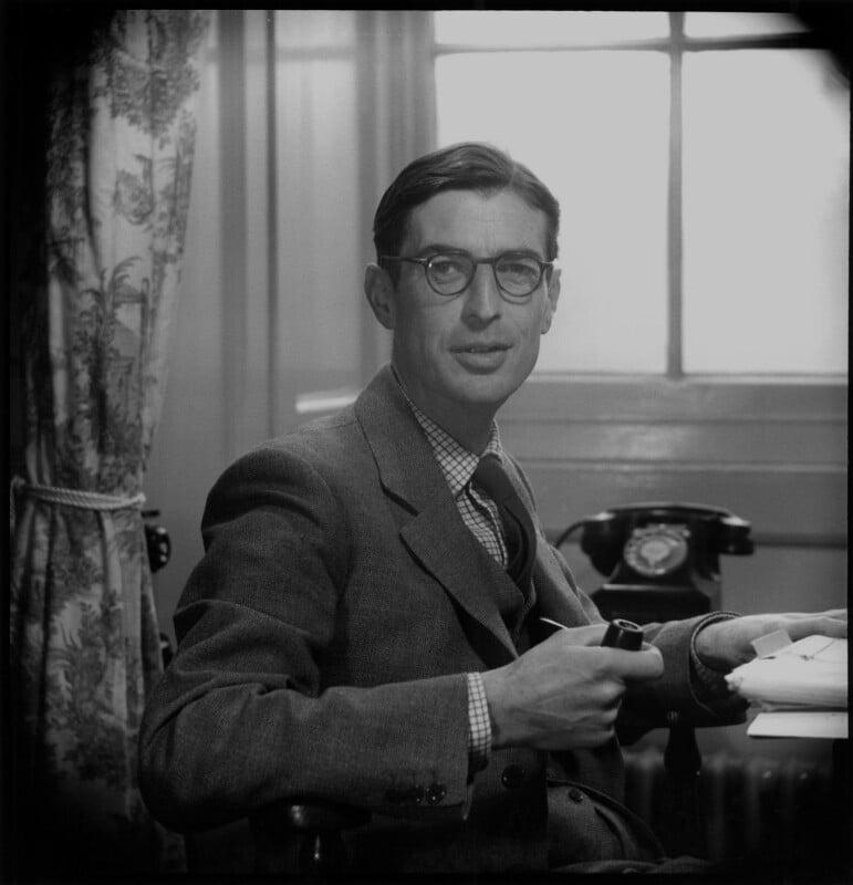John Earle ('J.E.') Raven, by Antony Barrington Brown, 10 December 1957 - NPG x104799 - © Gonville & Caius College, Cambridge