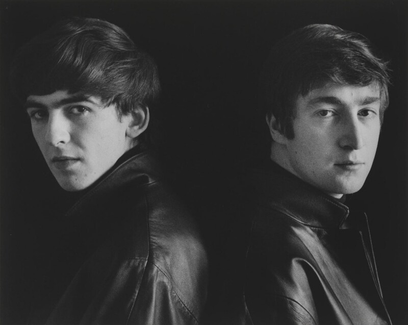 The Beatles (George Harrison; John Lennon), by Astrid Kirchherr, 1962 - NPG P1692 - © Astrid Kirchherr / Getty Images