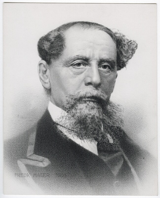 Charles Dickens, by Frederick Hager, after  Benjamin Gurney, published 1906 - NPG D42291 - © National Portrait Gallery, London