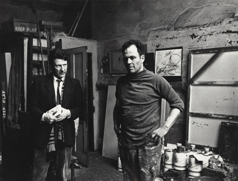 Lucian Freud; Frank Auerbach, by Harry Diamond, May 1975 - NPG x135767 - © National Portrait Gallery, London