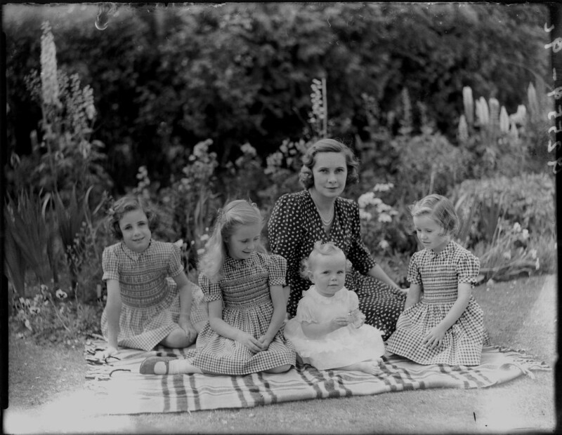 Sybil (née Johnson), Countess Howe with family, by Bassano Ltd, 6 July 1946 - NPG x97963 - © National Portrait Gallery, London
