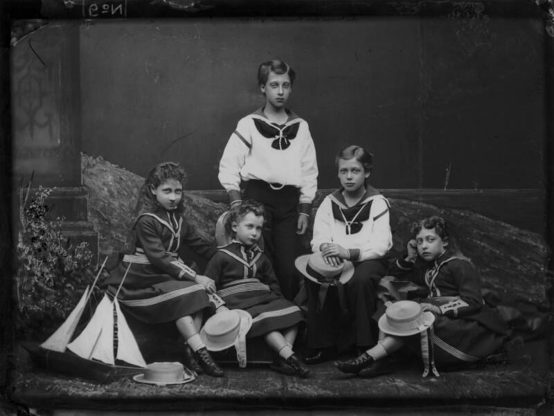 The children of King Edward VII, by Alexander Bassano, 1875 - NPG x104919 - © National Portrait Gallery, London