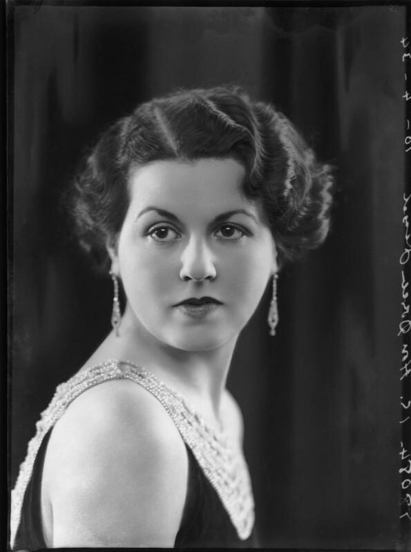 Doreen Maud Agnew (née Jessel), by Bassano Ltd, 10 April 1934 - NPG x104929 - © National Portrait Gallery, London