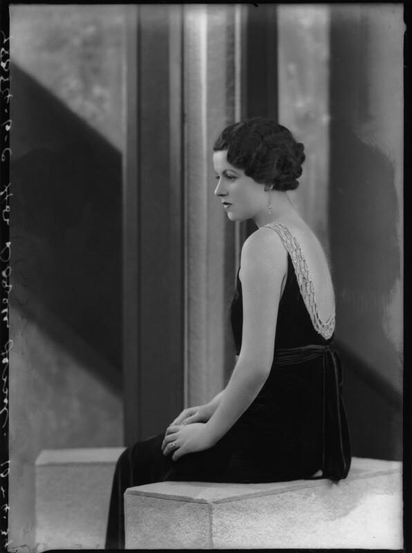 Doreen Maud Agnew (née Jessel), by Bassano Ltd, 10 April 1934 - NPG x104930 - © National Portrait Gallery, London