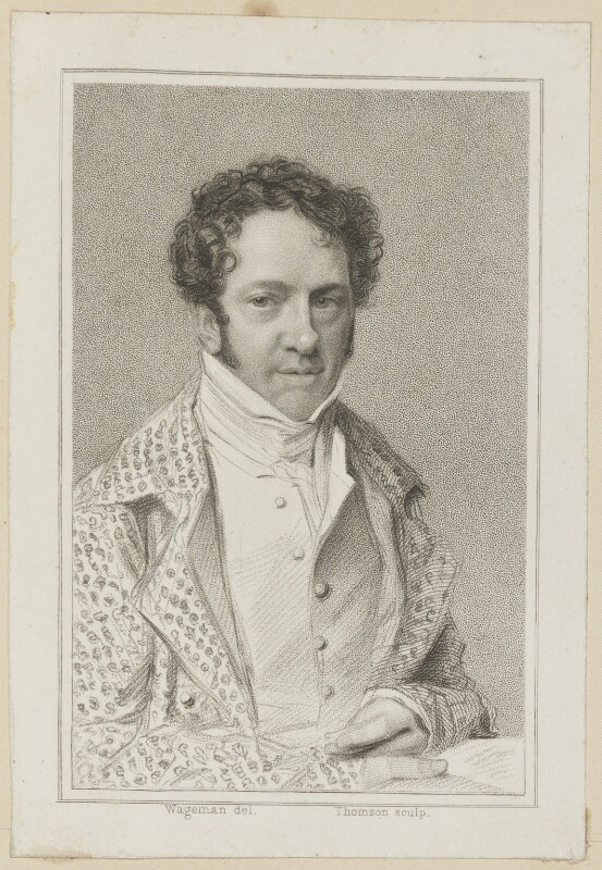 Benjamin Wrench as Belmour in Beazley's 'Is He Jealous?', by James Thomson (Thompson), published by  Simpkin and Marshall, after  Thomas Charles Wageman, published 1818 - NPG D38675 - © National Portrait Gallery, London