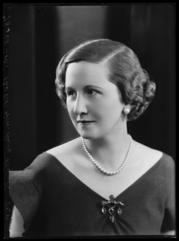 Dorothy (née Downing, later Gundersen), Viscountess Tarbat, by Bassano Ltd, 30 June 1934 - NPG x105044 - © National Portrait Gallery, London