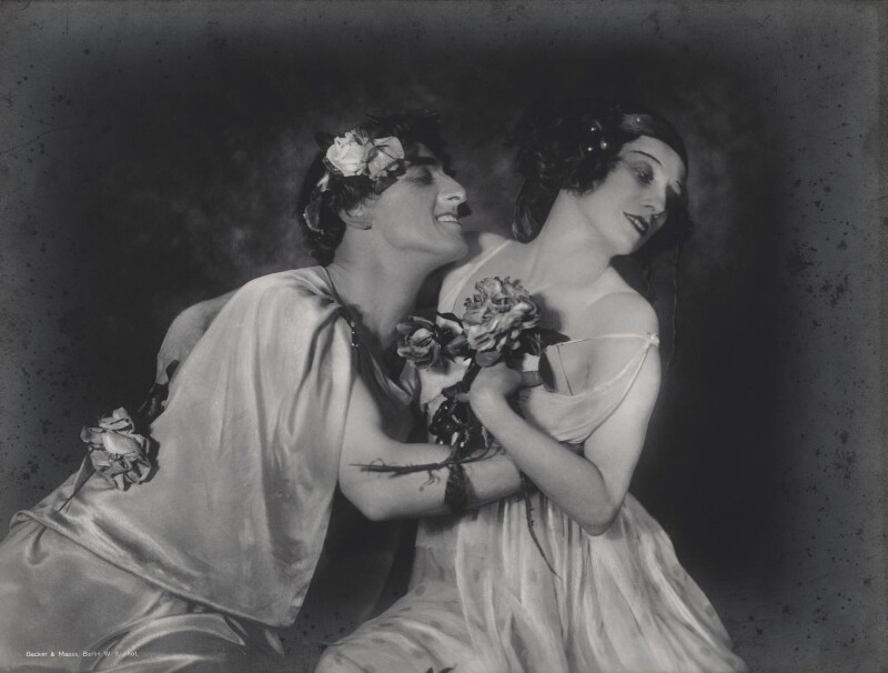 Laurent Novikoff and Anna Pavlova in 'Autumn Bacchanal', by Becker & Maass, circa 1920 - NPG x135877 - © National Portrait Gallery, London