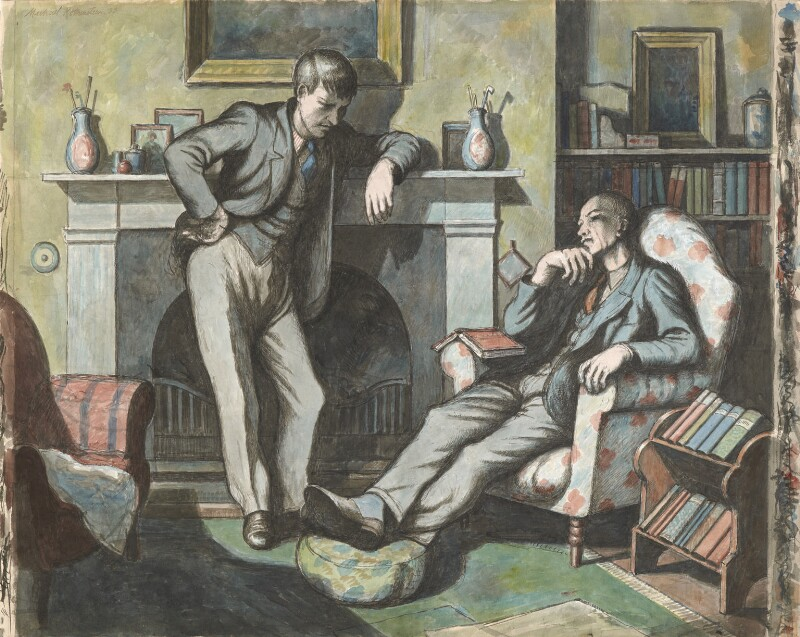 Eric Ravilious; Edward Bawden, by Michael Rothenstein, 1933 - NPG 6938 - © National Portrait Gallery, London