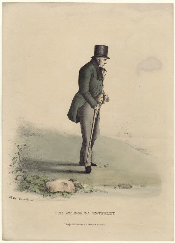 Sir Walter Scott, 1st Bt, by Benjamin William Crombie, published by  Rudolph Ackermann, published 1831 - NPG D42314 - © National Portrait Gallery, London