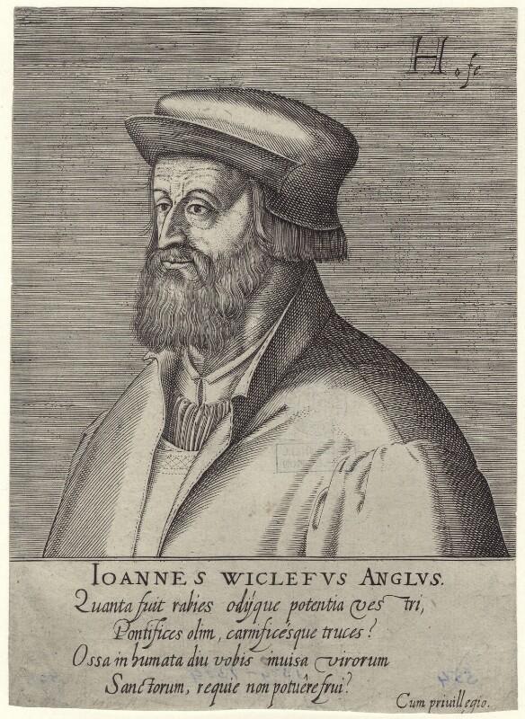 Fictitious portrait called John Wyclif, by Hendrik Hondius (Hond), circa 1602 - NPG D42320 - © National Portrait Gallery, London