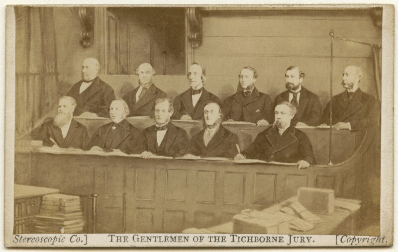 'The Gentlemen of the Tichborne Jury', by London Stereoscopic & Photographic Company, 1871-1872 - NPG x135898 - © National Portrait Gallery, London