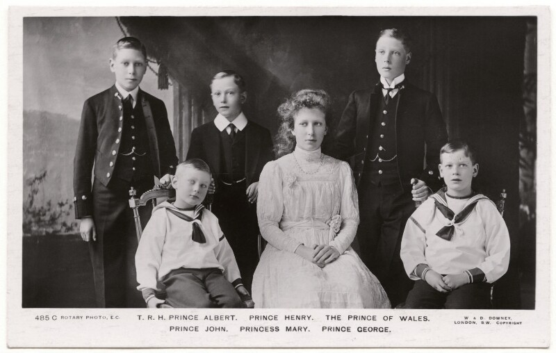 The children of King George V, by W. & D. Downey, 1910 - NPG x136042 - © National Portrait Gallery, London