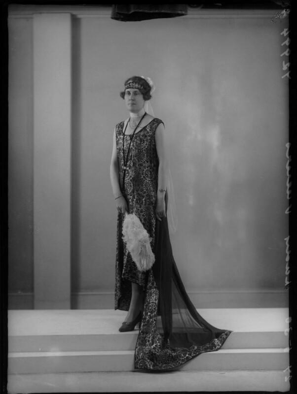 Lady Victoria Alexandrina Villiers (née Innes-Ker), by Bassano Ltd, 27 May 1930 - NPG x157976 - © National Portrait Gallery, London